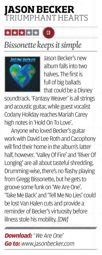 Rhythm Magazine Album Review: Jason Becker - Triumphant Hearts