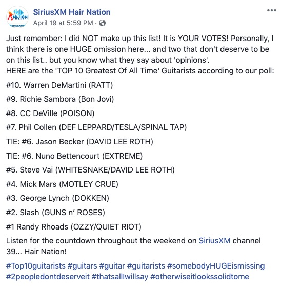 Jason Becker Makes List of Top 10 Greatest Of All Time Guitarists in SiriusXM Readers Poll