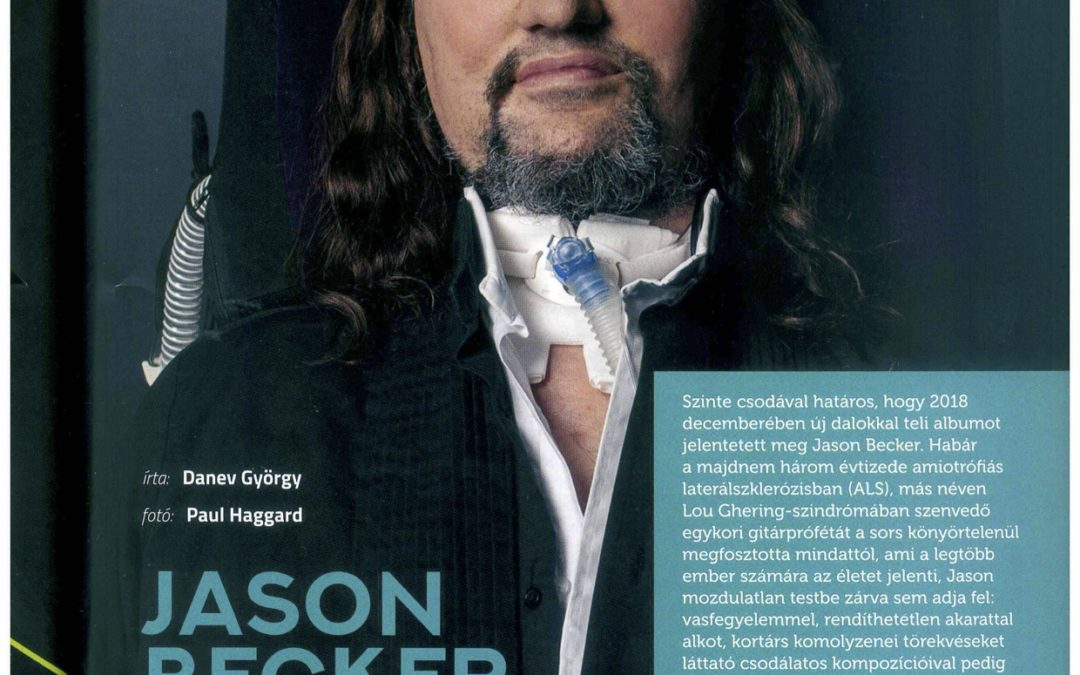 Jason Becker 4 Page Feature in Hungarian Magazine Music Media.