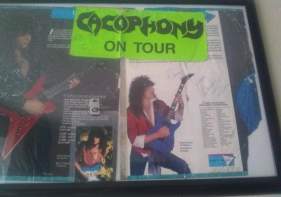 Photos: Jason Becker Cacophony Tour Sticker, Pass & Autograph