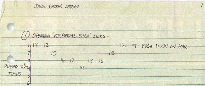 """GuitarPlayer.com – Learn how to properly play the Jason Becker classic, """"Perpetual Burn,"""" from the man himself."""