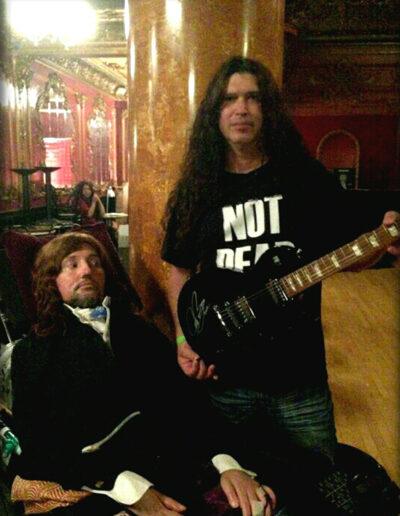 Jason Becker and Stephen with the Joe Bonamassa Gibson Les Paul guitar