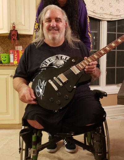 Rob M. and Stephen with Jason's Joe Bonamassa Guitar