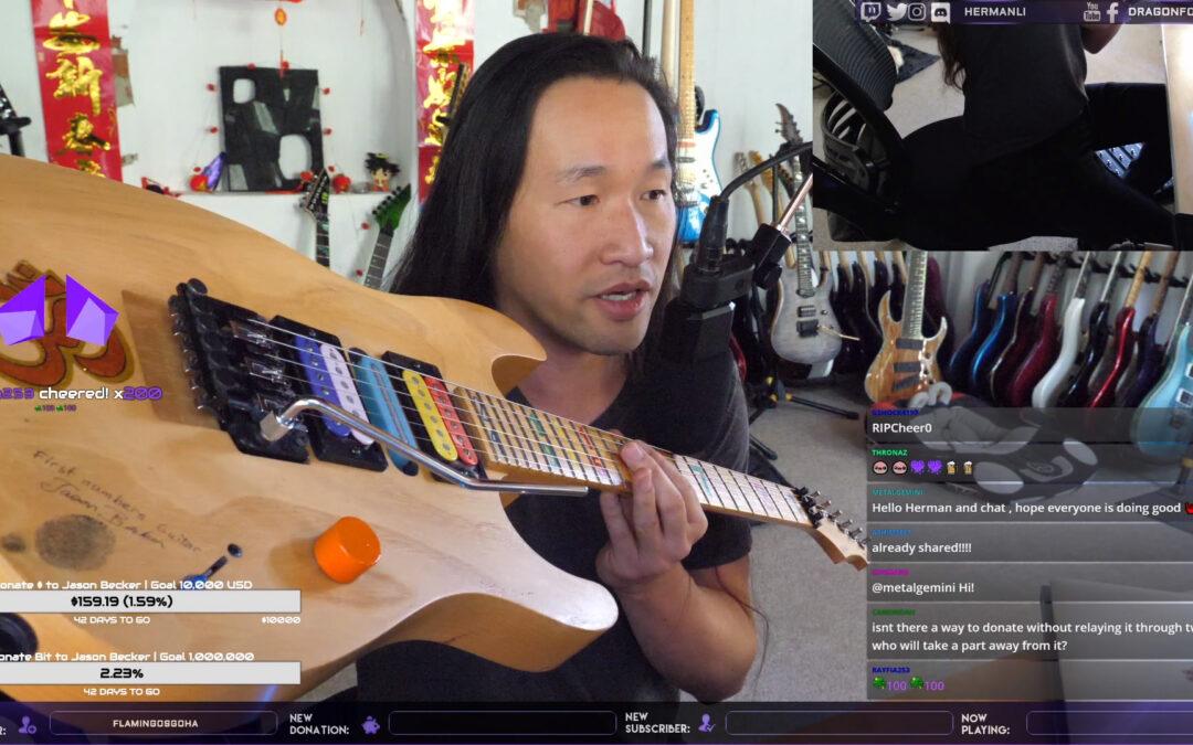 Herman Li Breathes Fire Into Historic Jason Becker Guitars