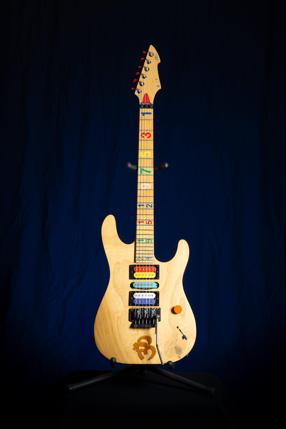 Jason Becker's Peavey 'Numbers' Prototype Guitar - Photo by Stephanie Cabral
