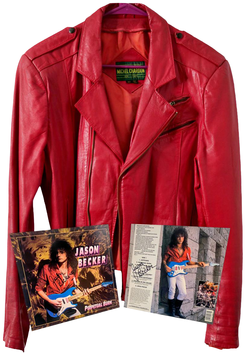 Jason Becker's Red Leather Jacket and Perpetual Burn Album Art